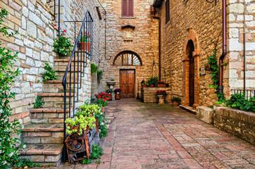 Fototapeta uliczka Włoska Corciano