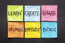 Learn, Create, Share, And Insp...