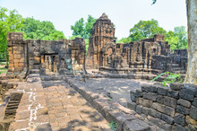 Prasat Mueang Sing Historical Park, Remains Buildings Of The Ancient Khmer Style Temple Attraction Famous Cultural In Sai Yok District, Kanchanaburi Province, Thailand