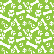 Seamless Pattern With White Do...