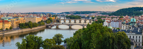 fototapeta na drzwi i meble Prague panorama city skyline