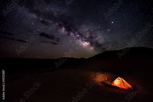 Poster Night Camping under the Stars Reflection Canyon Utah USA