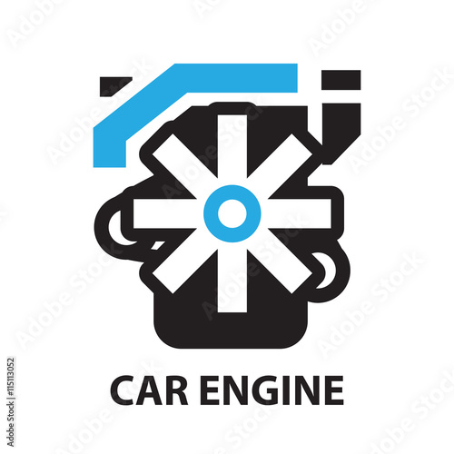 Car Engine Icon And Symbol Buy This Stock Vector And Explore