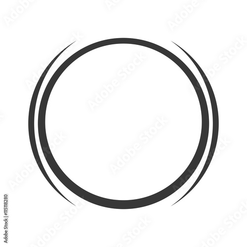 grey circle icon Fototapet
