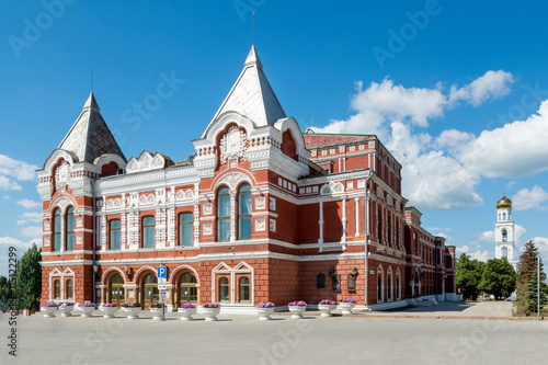 building of the drama theater in Samara Canvas-taulu