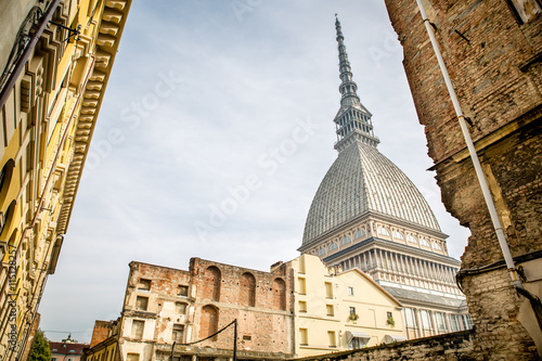 View of the Mole Antonelliana, in Torino, Italy. Slika na platnu