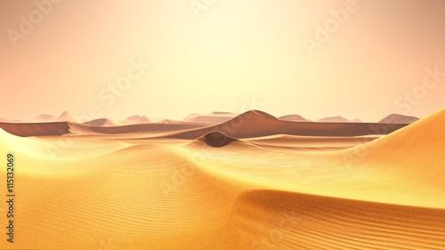 In de dag Zandwoestijn désert