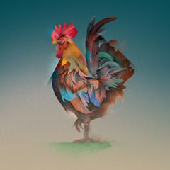 Fototapeta samoprzylepna cock