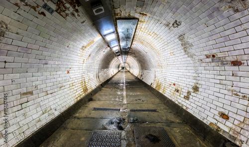 Poster Tunnel Greenwich Fußgänger Tunnel unter der Themse, London