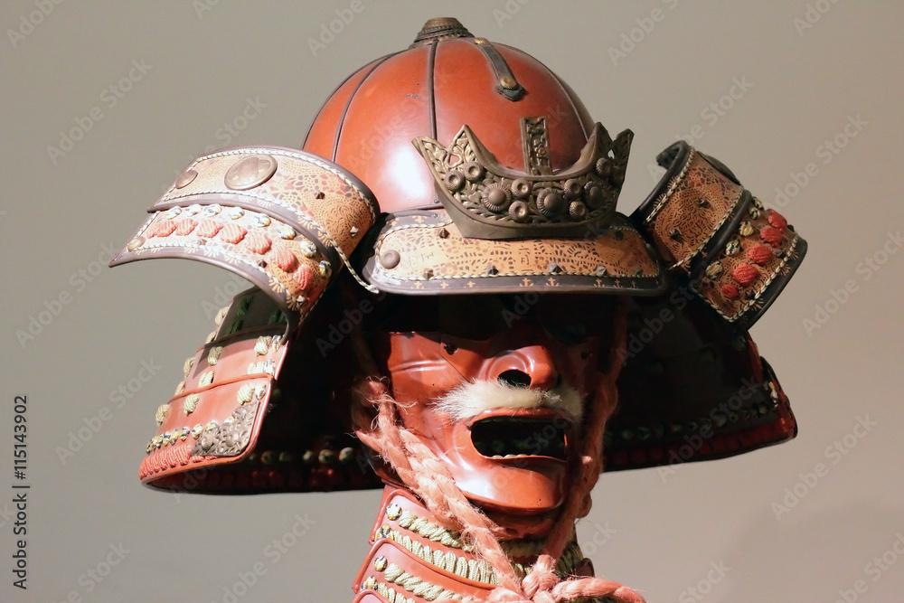 Japanese Samurai Mask Wall Mural Wallpaper Murals Wallsheaven Marcovarro