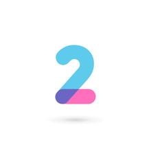 Number 2 Logo Icon Design Temp...