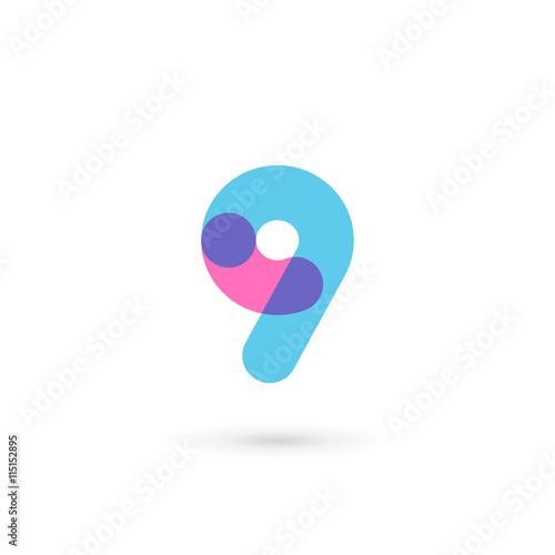 Fotografia  Number 9 logo icon design template elements