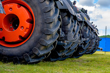 Close Up Of Tractor Tire, Whee...