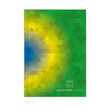 Abstract brochure background in colors of Brazil. vector eps10.