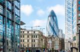 Fototapeta Londyn - City View of London around Liverpool Street station