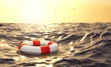 Schwimmender Rettungsring Im M...
