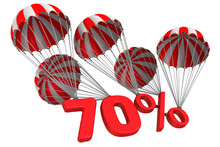 Seventy Percent Is Flying On Parachutes