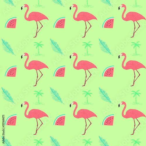 flamingo-egzotyczny-wzor