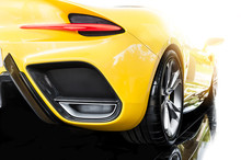 Back Of A Yellow Sport Car
