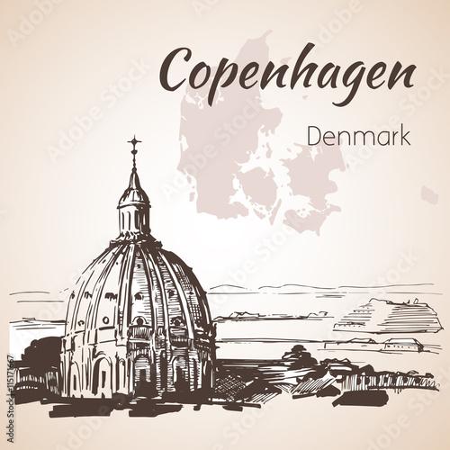 Frederik's Church - Copenhagen, Denmark Canvas Print
