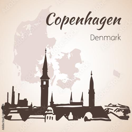 Photo  Cityscape of Copenhagen, Denmark