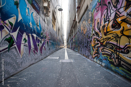 Autocollant pour porte Graffiti graffiti city in Melbourne