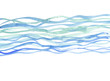 river background. sea watercolor illustration. blue water hand d