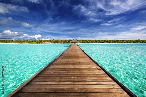 Deurstickers Tropical strand Maldives