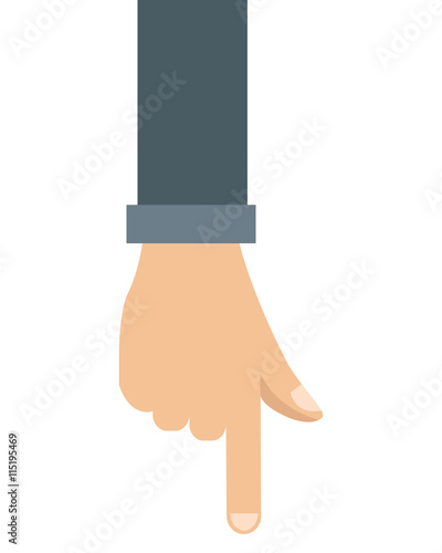 Vászonkép hand pointing with index finger icon