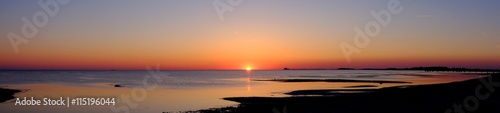 Cadres-photo bureau Mer coucher du soleil Sea view and sunset Beach