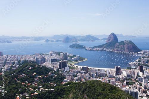 In de dag Rio de Janeiro view of the Rio de Janeiro