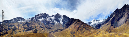 The Andes (or the Southern Cordilleras) panorama Wallpaper Mural
