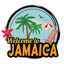 Welcome To Jamaica Sign