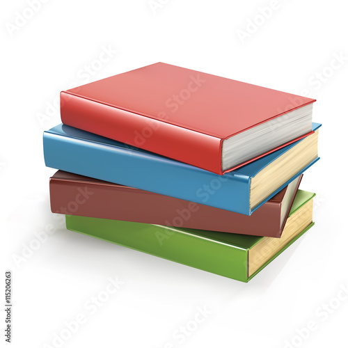 Stack of books vector illustration. Pile of books. Stack of books ...