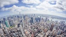 Wide Angle Image Of A New York...