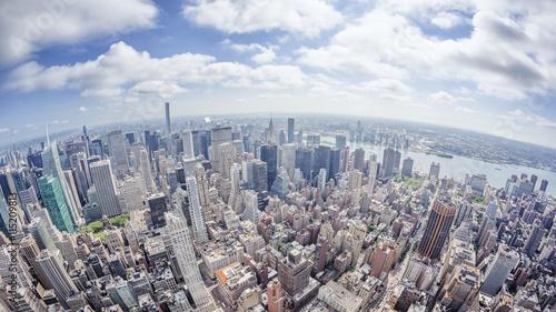 Fotografie, Obraz  wide angle image of a New York Manhattan