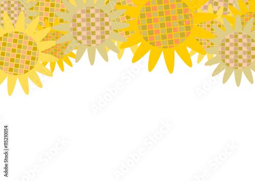 ひまわり イラスト 背景 素材 Adobe Stock でこのストックベクターを購入して 類似のベクターをさらに検索 Adobe Stock