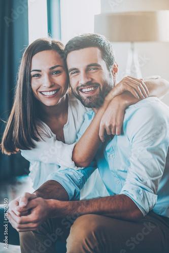 Photo  Happy loving couple.