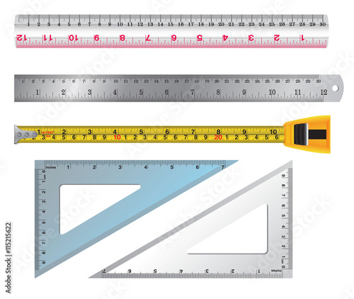 set of ruler and tab vector ruler concept style ruler and tabs line color