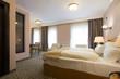 Classic style hotel bedroom interior