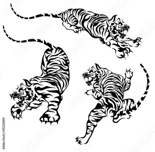 Fototapeten Künstlich tiger