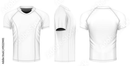 Obraz na plátně Rugby vector jersey