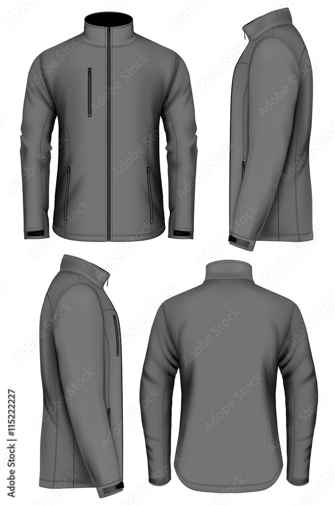 Fototapeta Men softshell jacket design template
