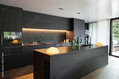 Obraz Interior, Modern kitchen - fototapety do salonu