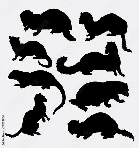 Foto  Wiesel-Tierschattenbild