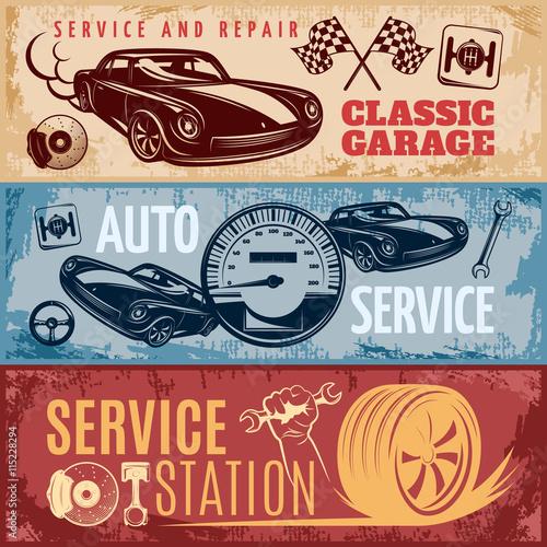 Plakaty motory   zestaw-banerow-naprawy-samochodow