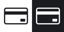 Credit Card Icon, Vector.  Two...