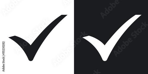 Fotografie, Obraz  Check mark icon, vector