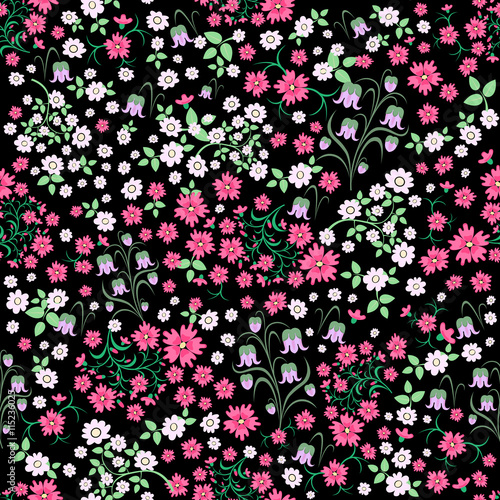 Seamless ditsy floral pattern flowers background vector seamless ditsy floral pattern flowers background vector illustration small white and pink mightylinksfo