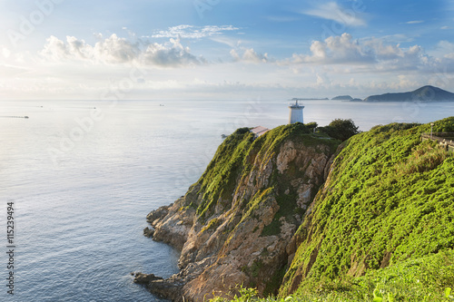 фотография  Hong Kong lighthouse during sunrise